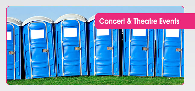 Portable toilet hire for Concerts & Theatres from Mobaloo