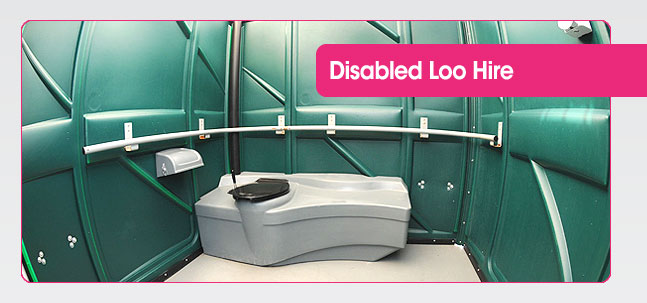 Disabled portable toilet hire from Mobaloo