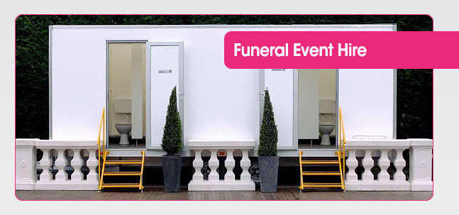 Portable toilet hire for funerals from Mobaloo